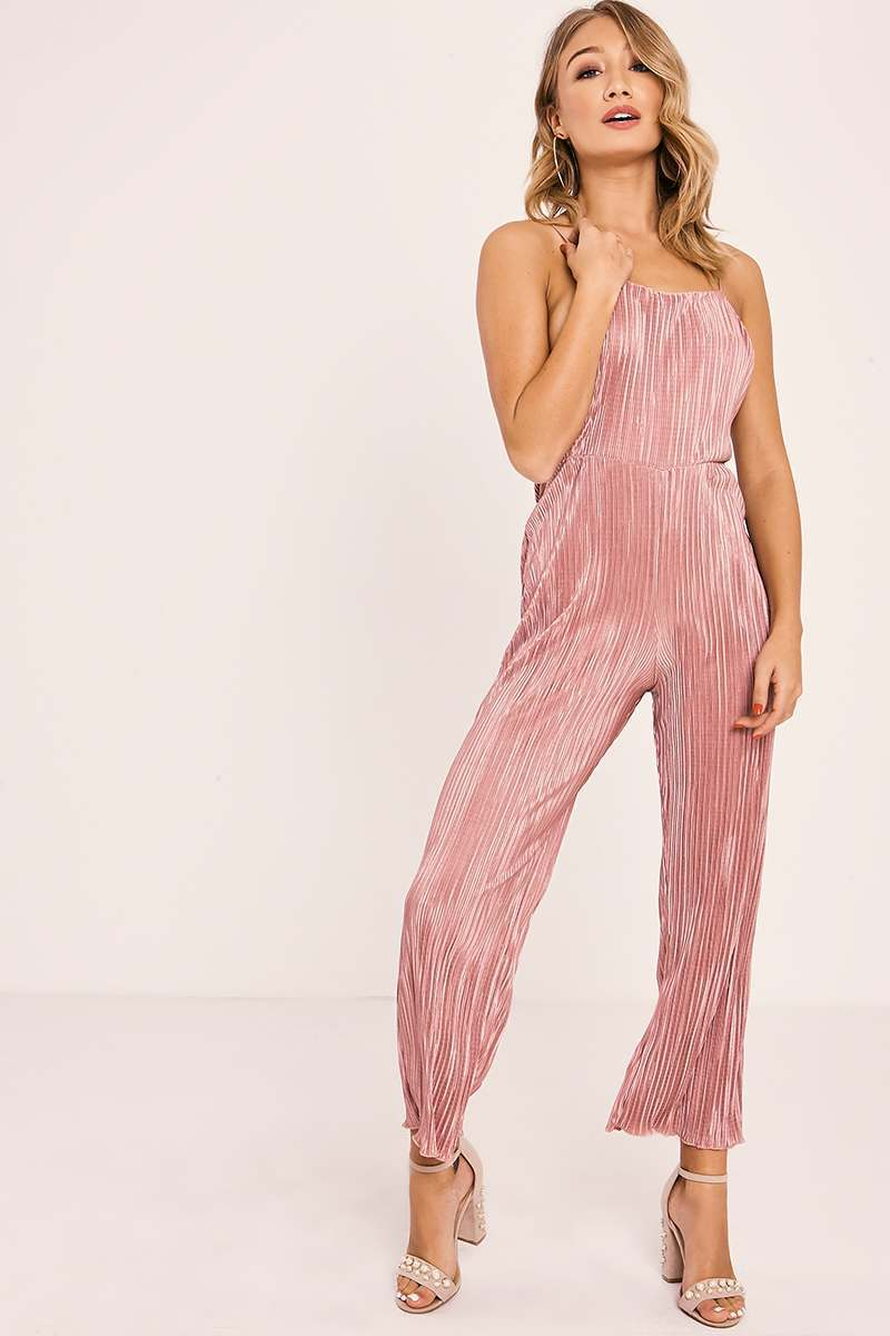 PREENA ROSE PLEATED STRAPPY JUMPSUIT