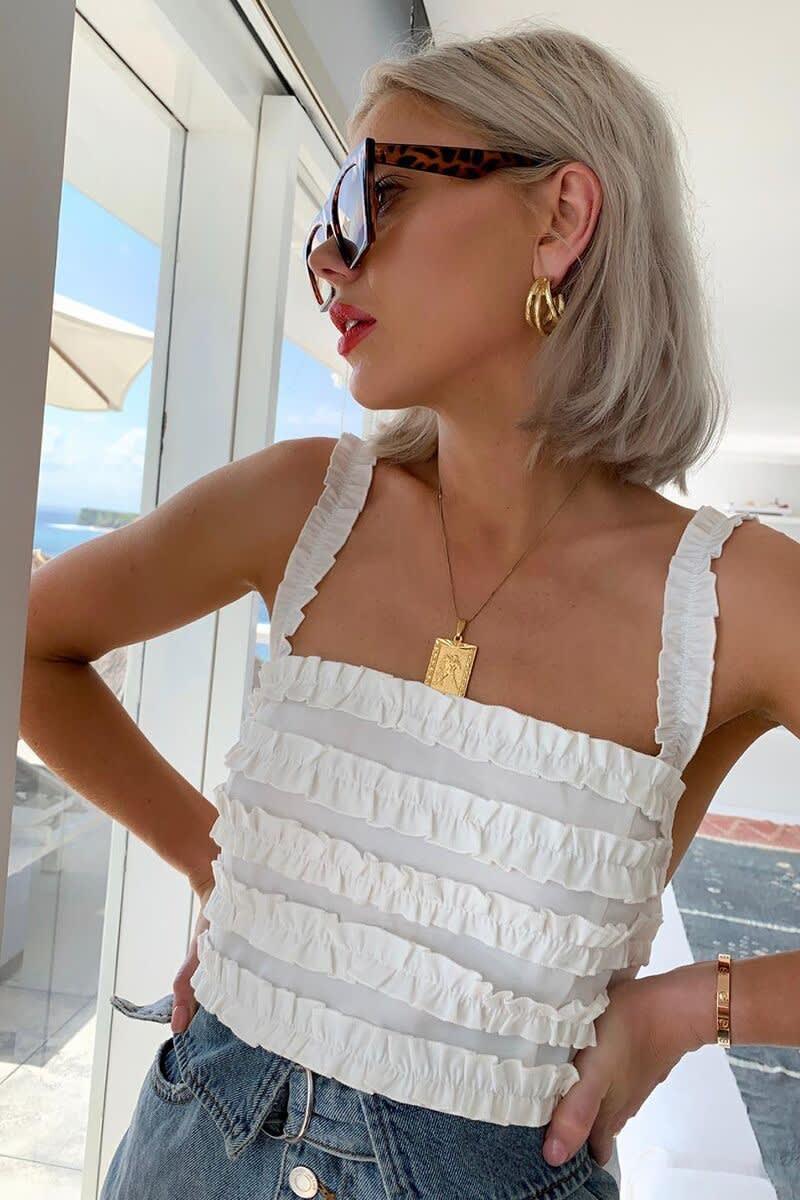 8ca5264aaf0 Shoptagr | Curve Latecia Mustard Satin Wrap Frill Maxi Dress by In ...