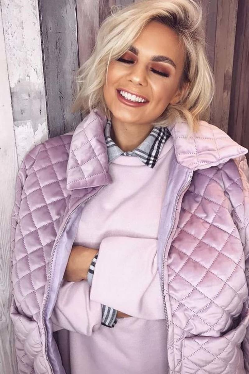 PIA MIA LILAC QUILTED JACKET
