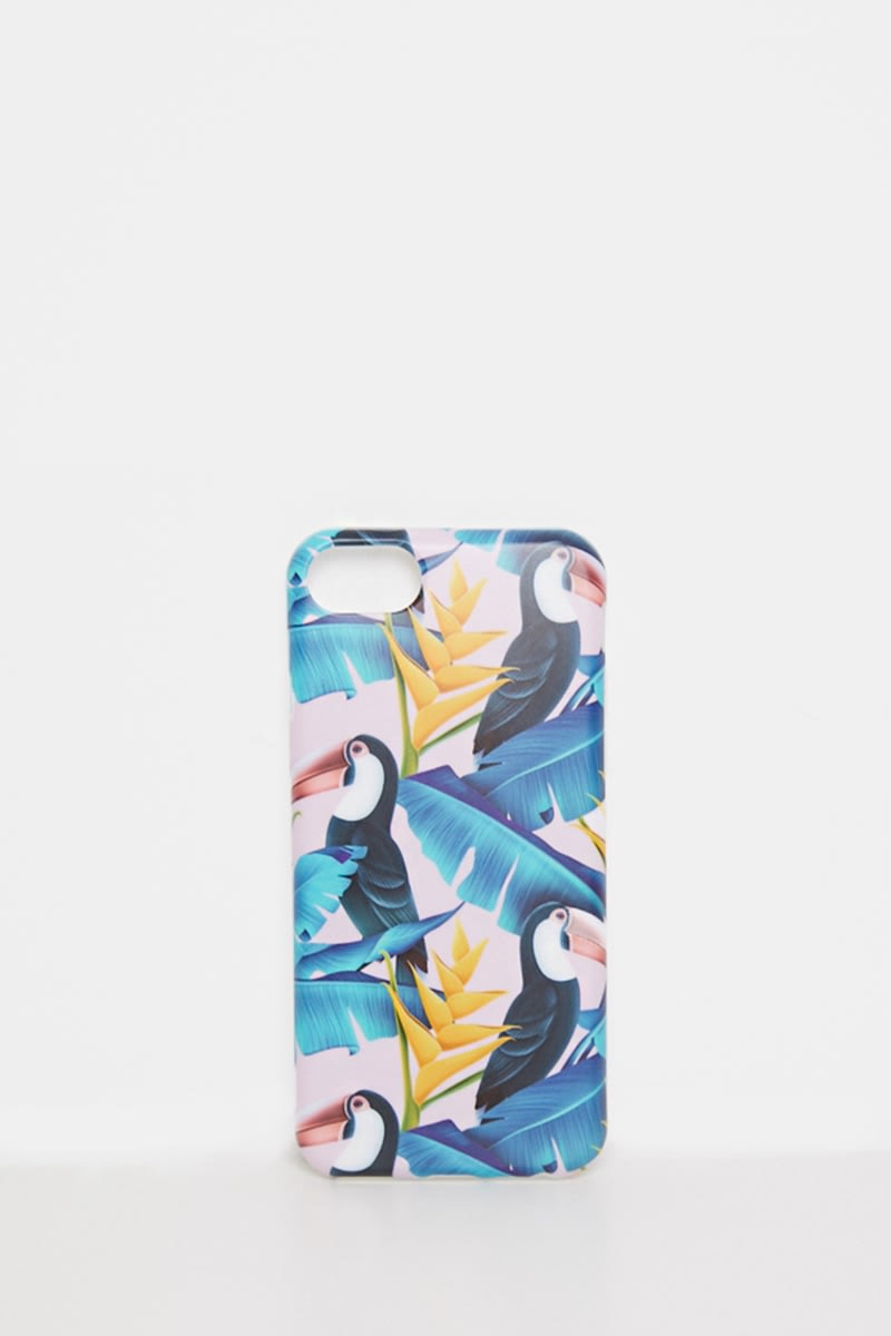 COCONUT LANE PINK TOUCAN PRINT PHONE CASE