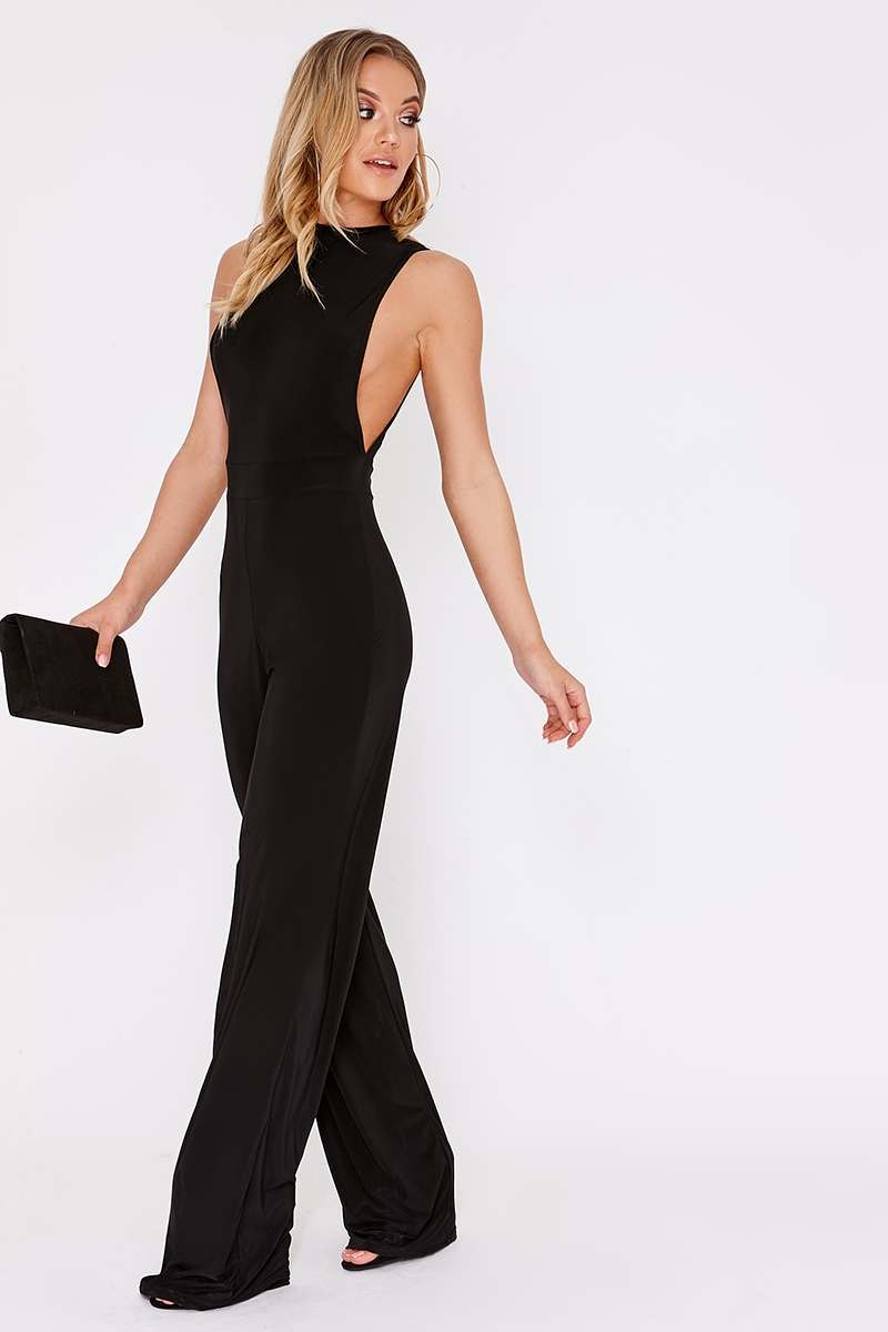 BENTA BLACK WIDE LEG JUMPSUIT