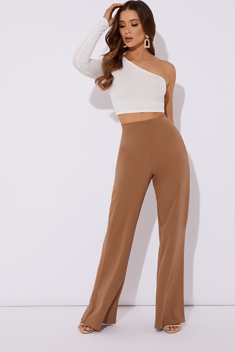83ca7575d0 Noomai Camel Wide Leg Trousers | In The Style