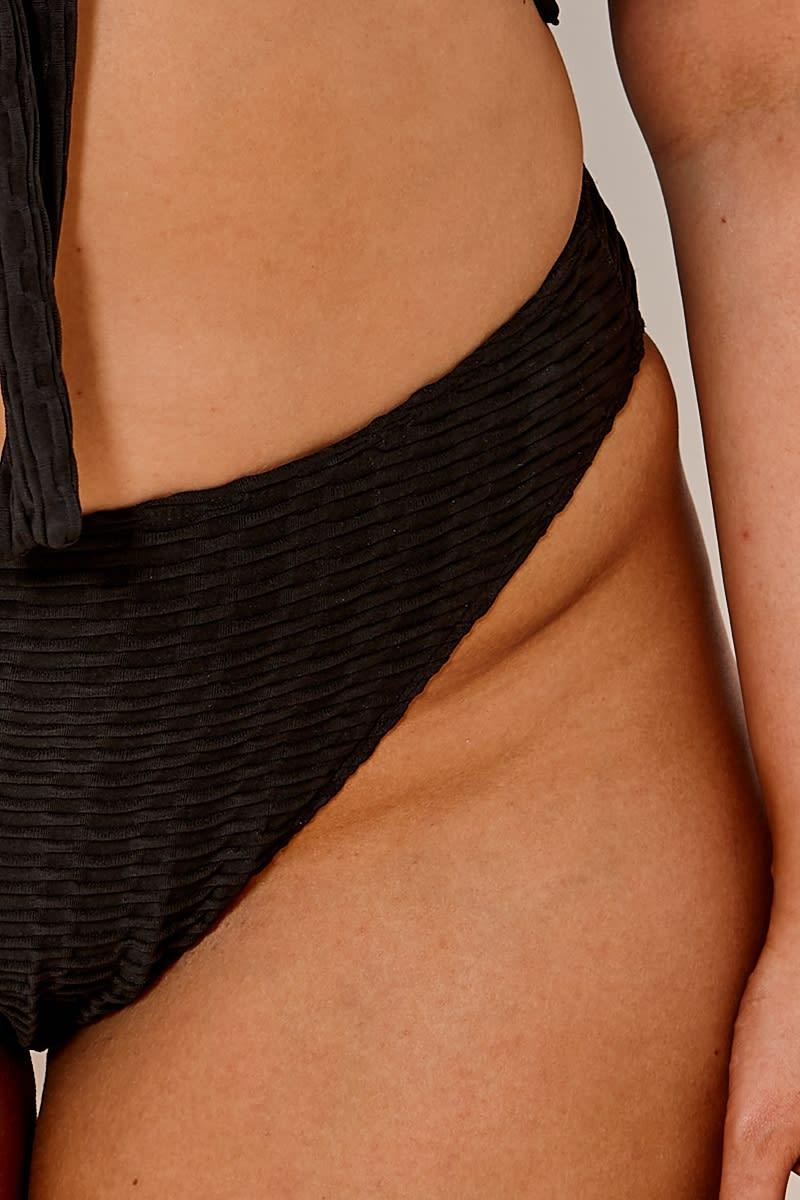 645f206895 Curve Latecia Black Textured Super High Waisted Bikini Bottoms | In ...