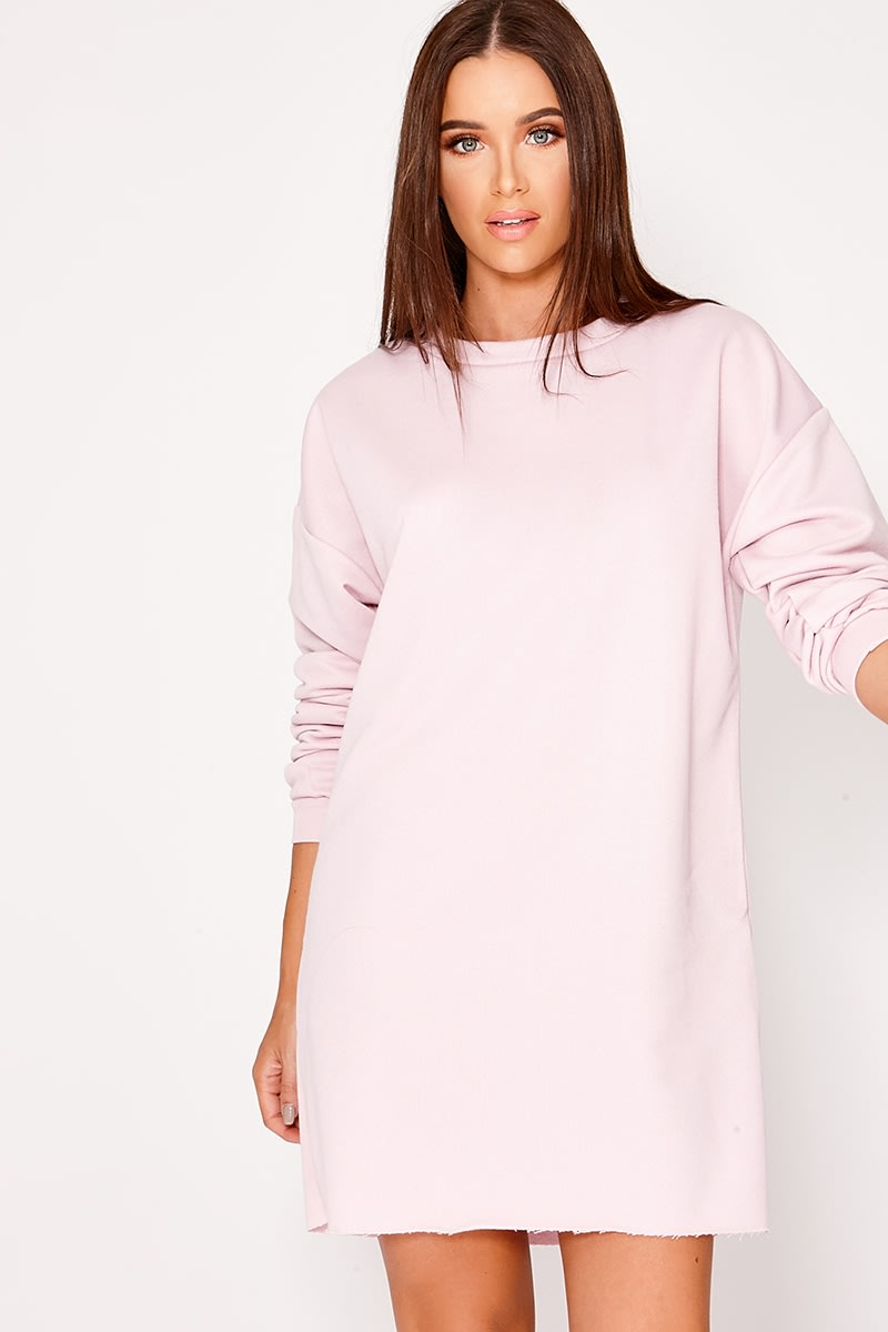 040f603f7a83fc Louna Lilac Oversized Sweater Dress | In The Style