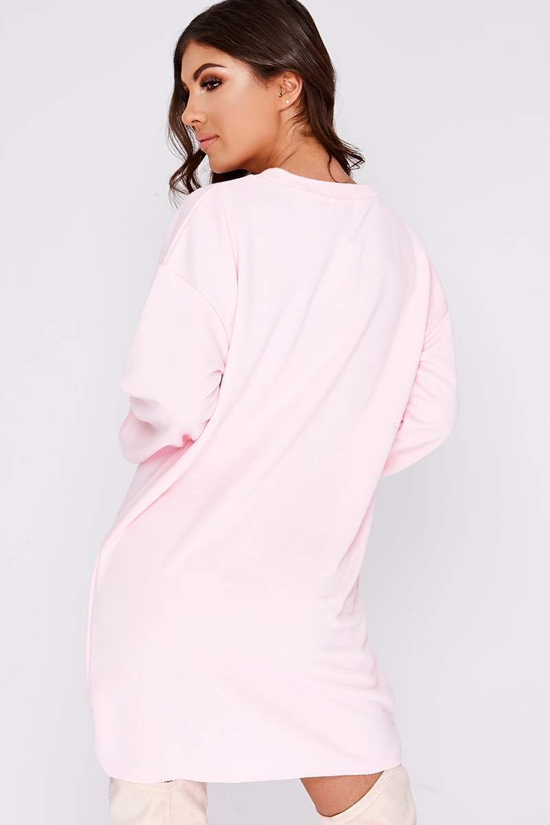 47dca75cad7fa6 Louna Pink Oversized Sweater Dress | In The Style