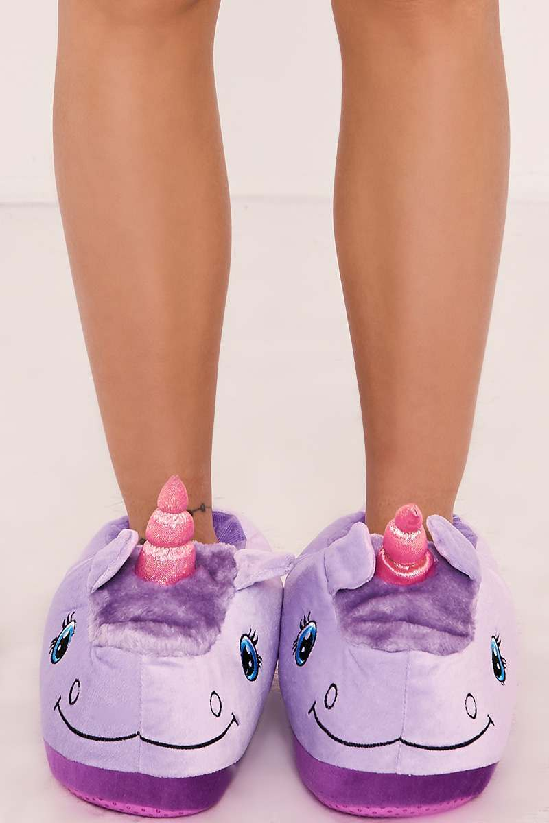LILAC UNICORN 3D SLIPPERS