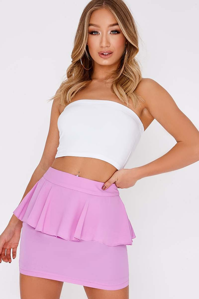 LAHANA LILAC RUFFLE MINI SKIRT