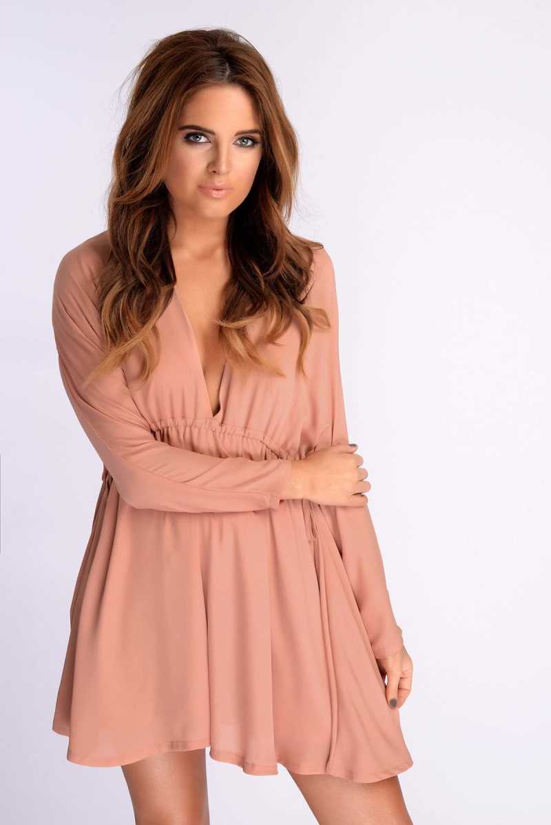 Binky Double Drawstring Blush Dress