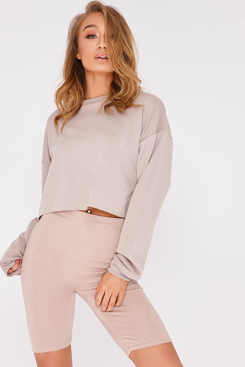 LEEAH STONE CROPPED SWEATER