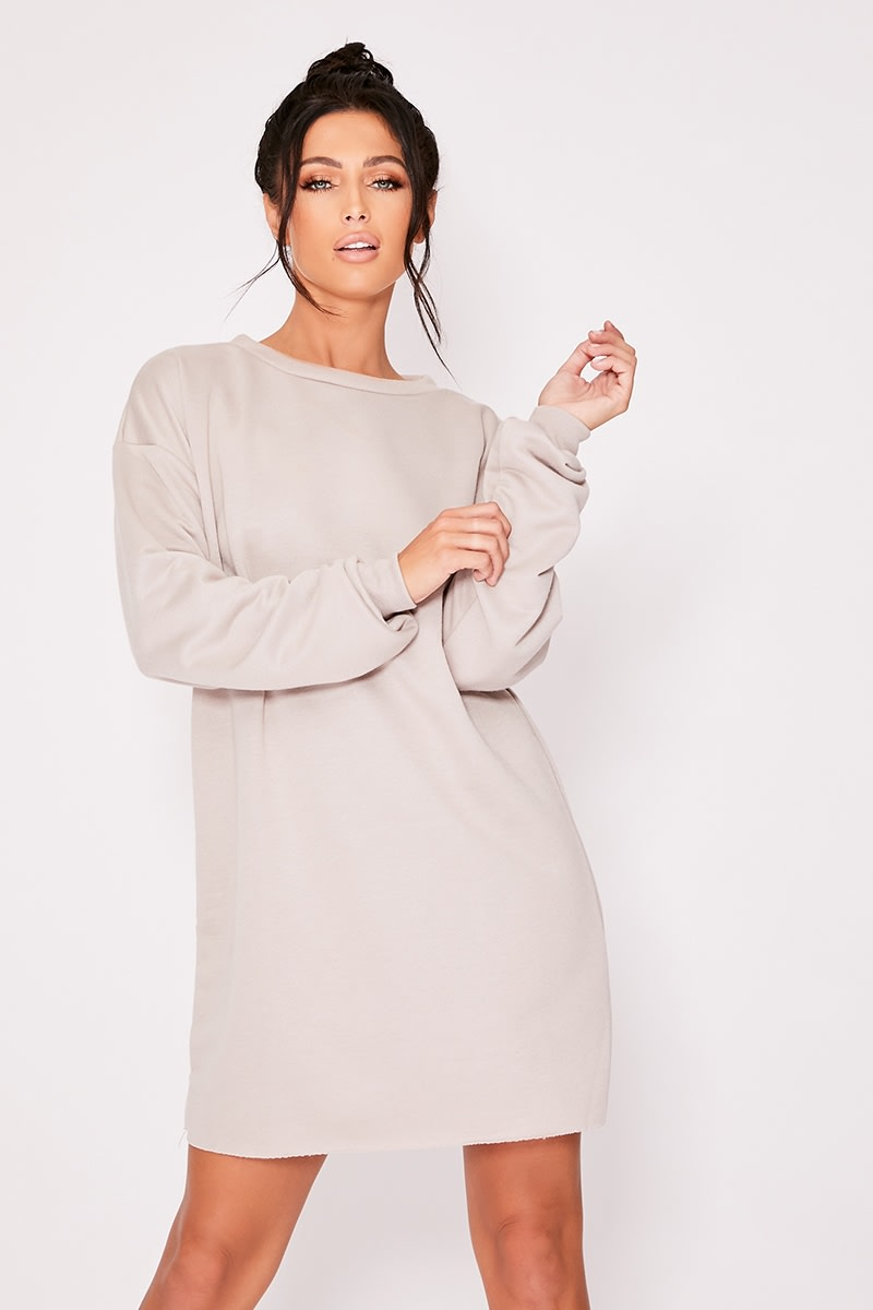 LOUNA STONE OVERSIZED SWEATER LOUNGEWEAR DRESS