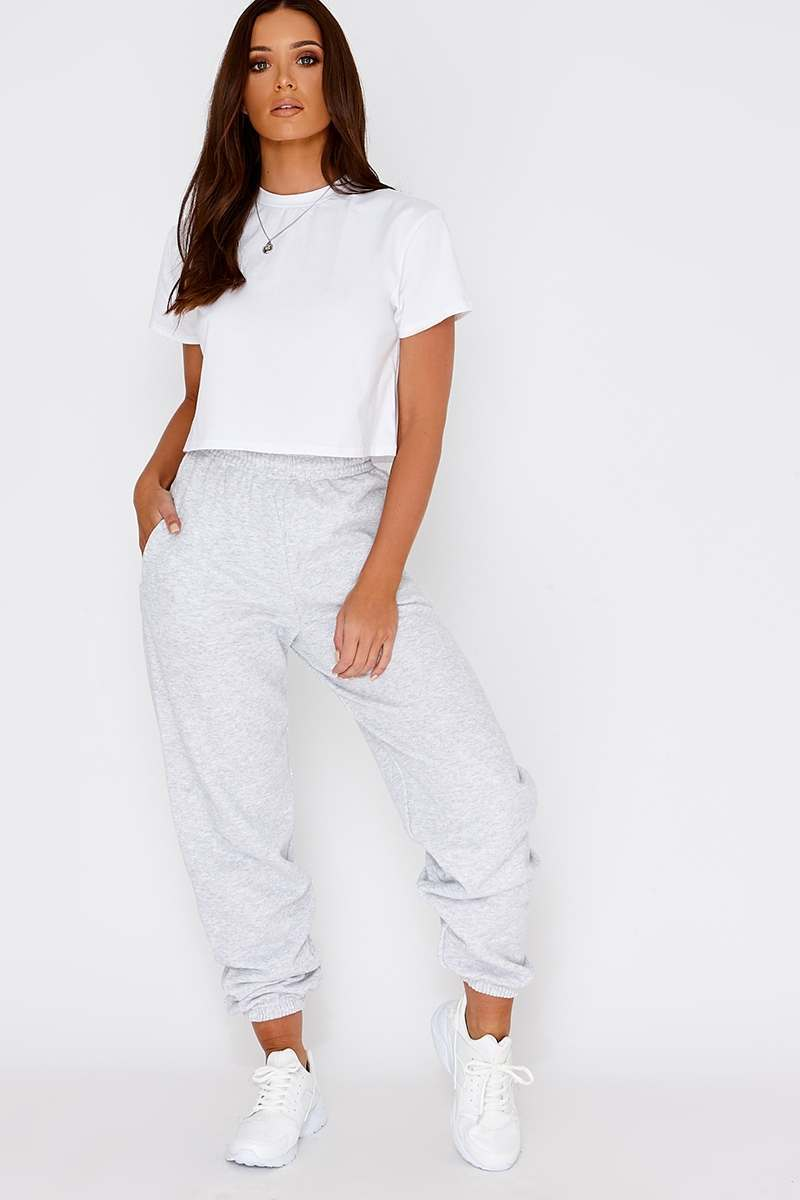 MADOC GREY HIGH WAISTED JOGGERS