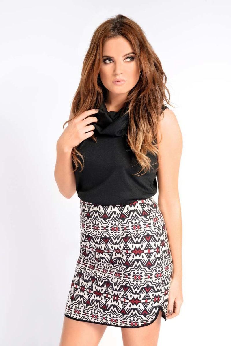 Binky Jacquard Aztec Skirt