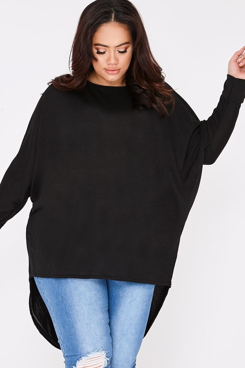 CURVE JENEY BLACK STEP HEM TOP