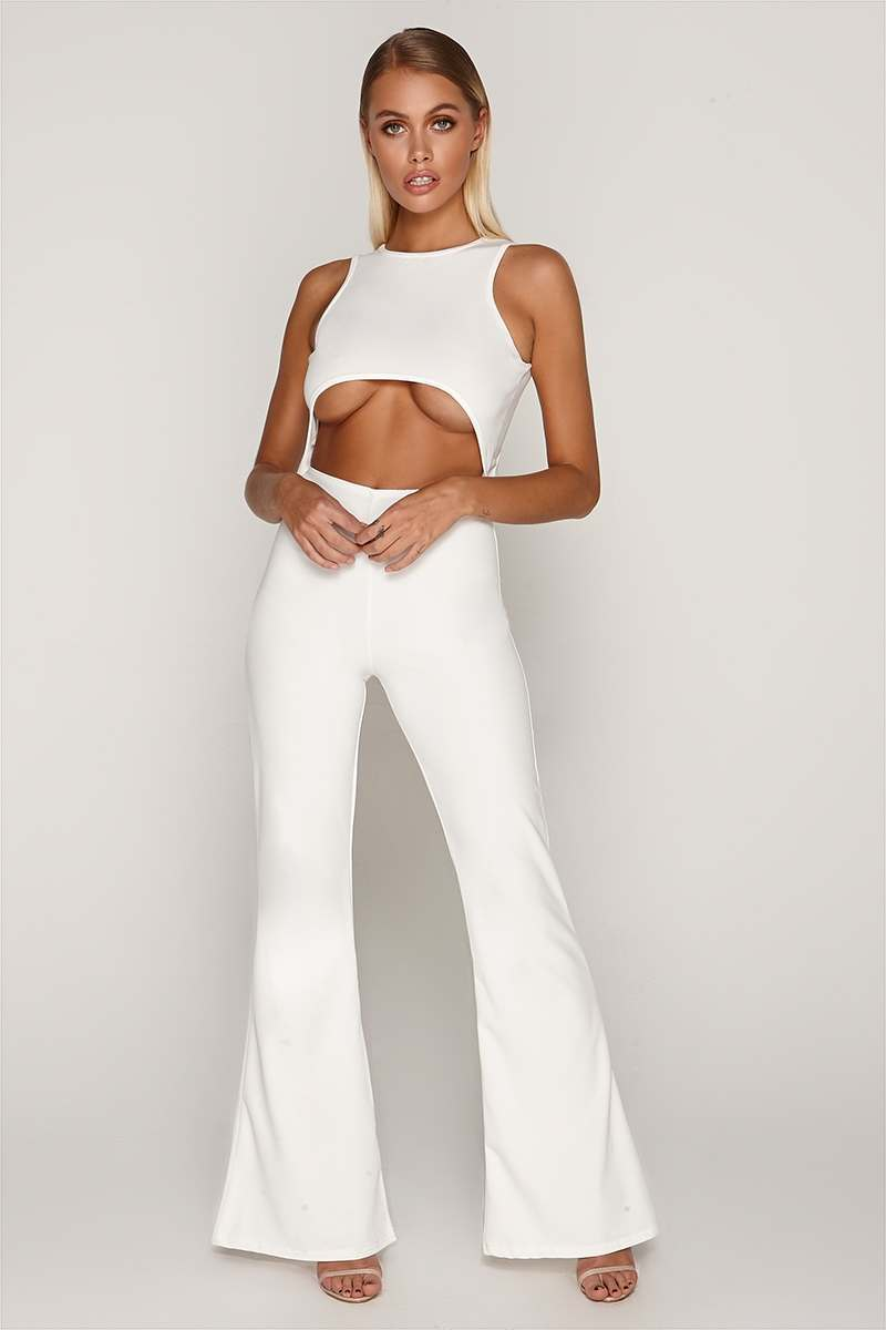 TAMMY HEMBROW WHITE CUT OUT JUMPSUIT