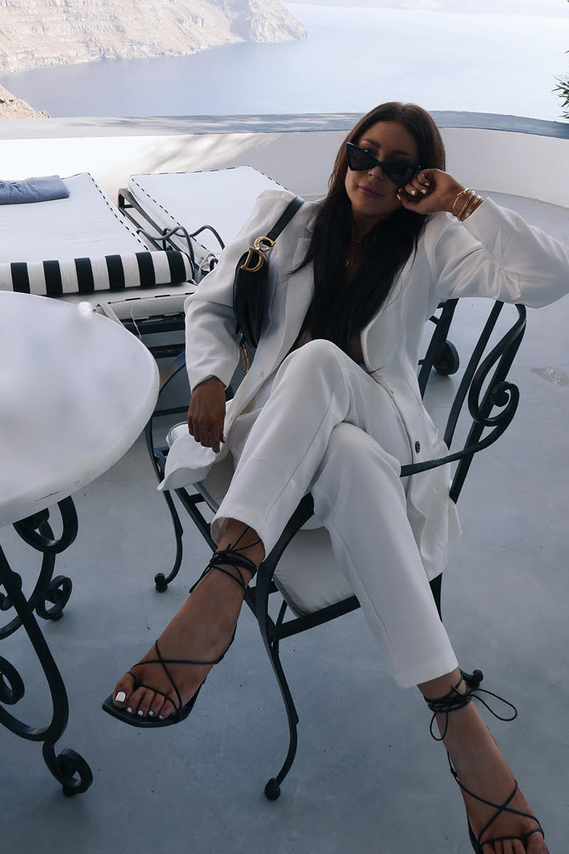 LORNA LUXE WHITE 'BIANCA' TAILORED PANTS