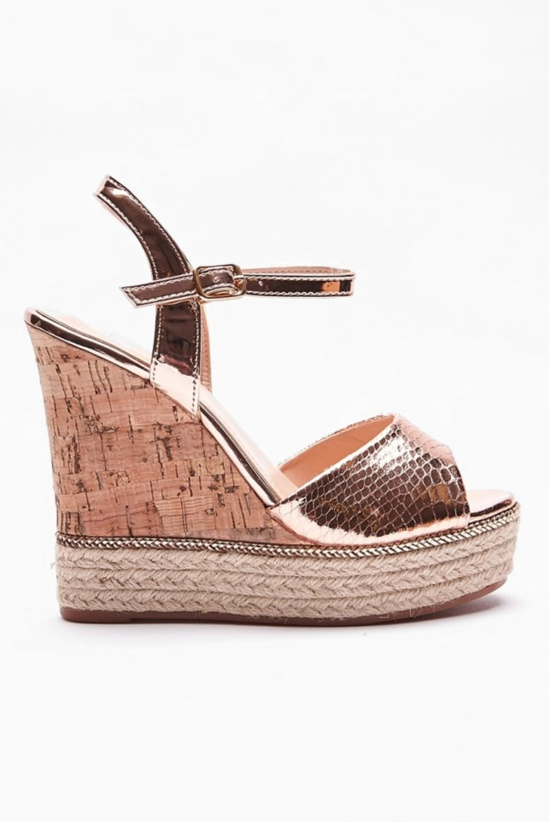 KIMME GOLD METALLIC WEDGES