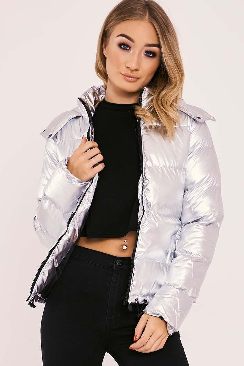 HADLEE SILVER PADDED PUFFER JACKET