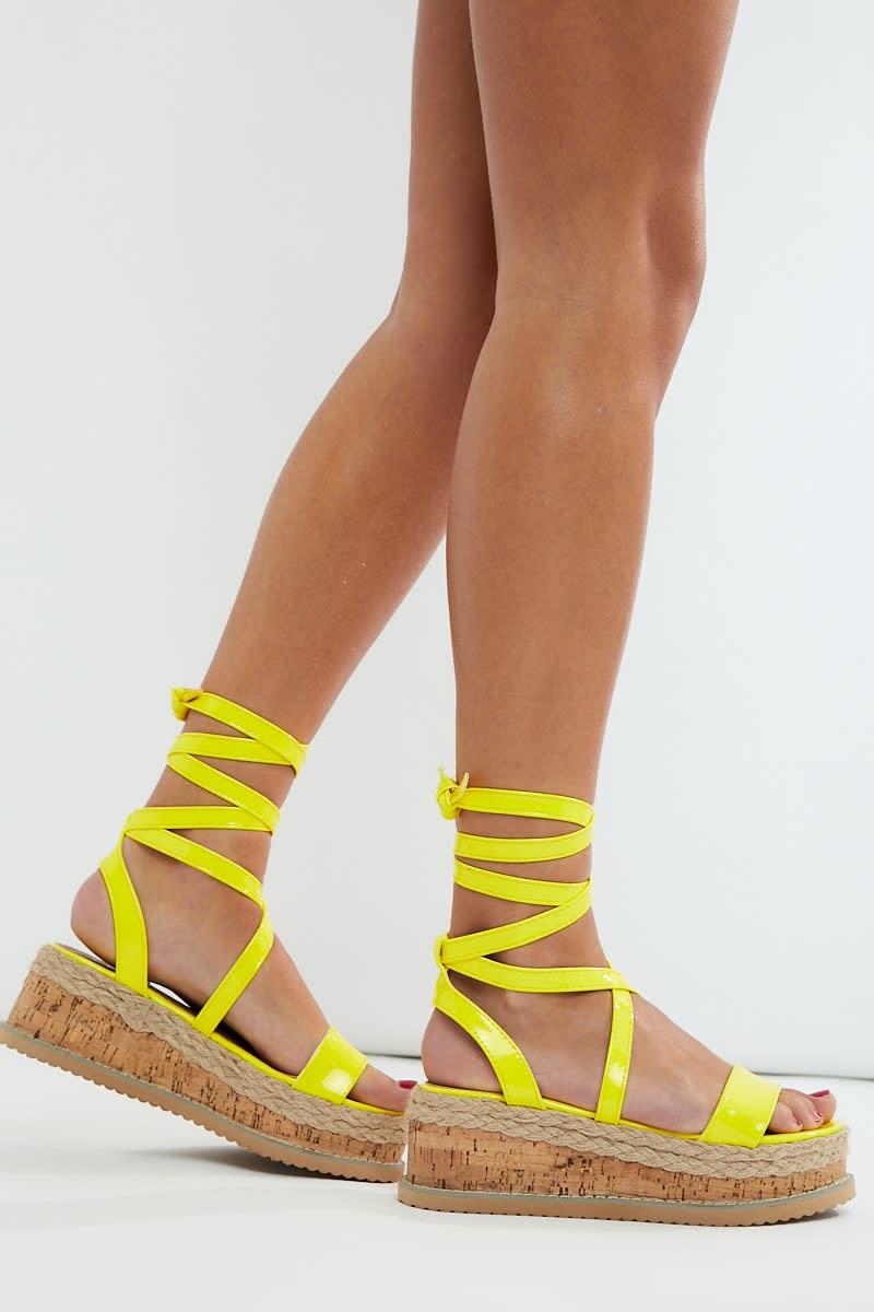 neon yellow espadrilles