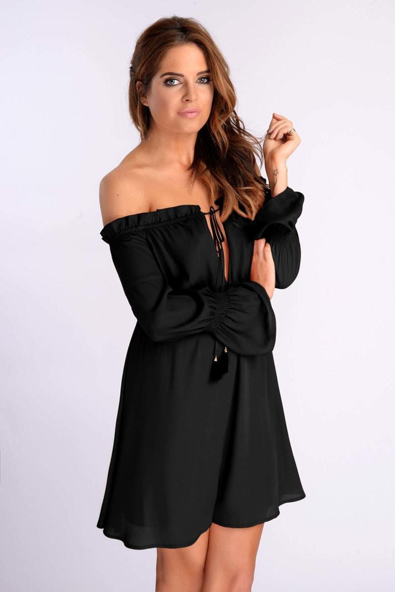 Binky Black Off The Shoulder Dress