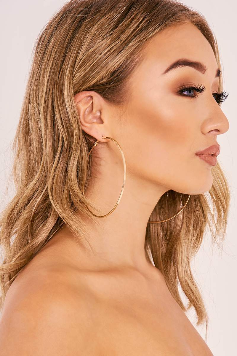 GOLD LARGE HOOP EARRINGS