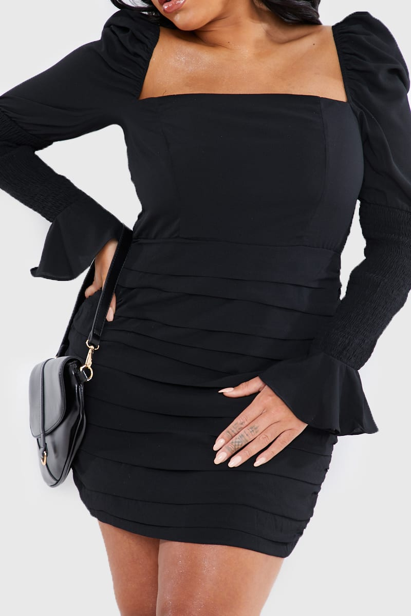 CURVE LORNA LUXE BLACK 'LUCKY' MINI DRESS