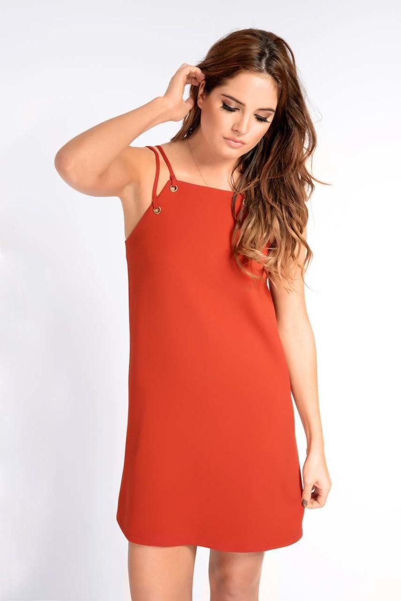 Binky Rust Eyelet Dress