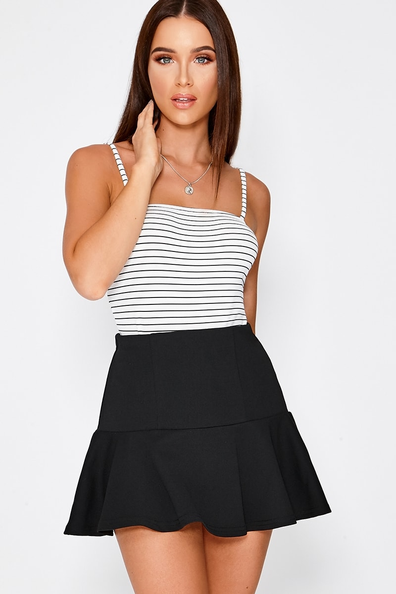 9c6c31c5a2 Charlotte Crosby Black Frill Extreme Mini Skirt | In The Style