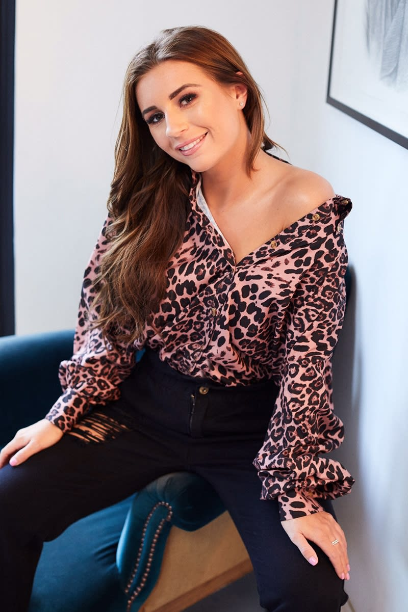 6d37aaf8086b55 Dani Dyer Pink Leopard Print Oversized Shirt | In The Style
