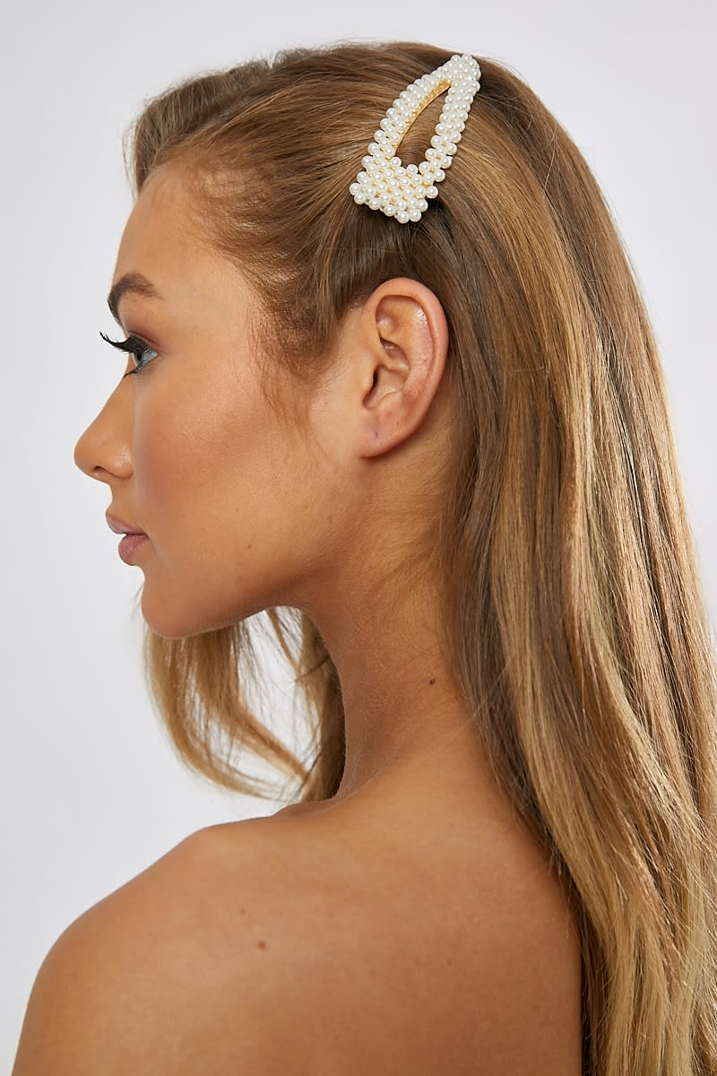 5f9a8f52d Large Gold Pearl Hair Clip | In The Style