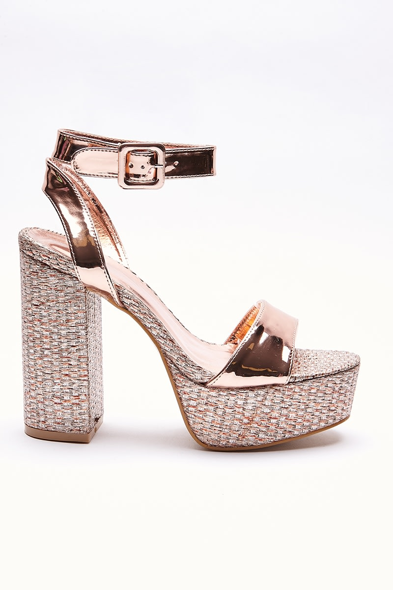Inica Rose Gold Platform Heels | In The