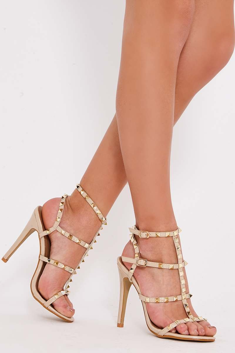 Strappy Studded Heels