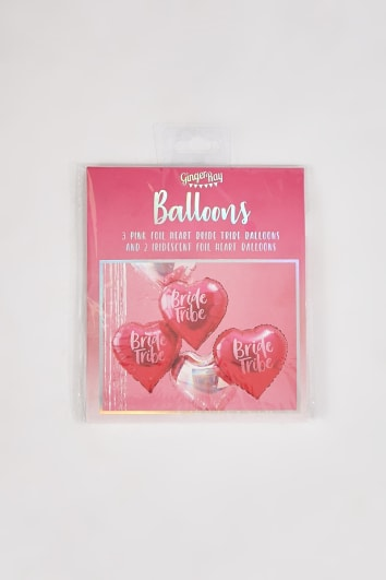 GINGER RAY PINK AND IRIDESCENT 5 PACK BRIDE TRIBE BALLOONS