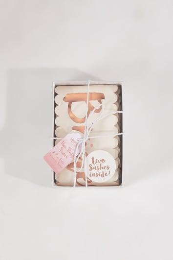 GINGER RAY PINK AND ROSE GOLD 2 PACK BRIDESMAID SASHES