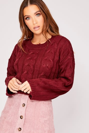 HERRERA BERRY KNITTED DISTRESSED JUMPER