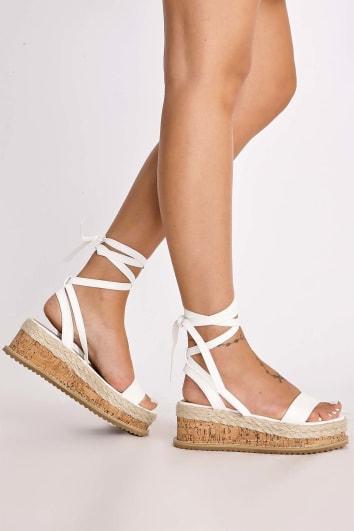 8cc8d6a3acb8 SELBY WHITE TIE LEG PLATFORM ESPADRILLES