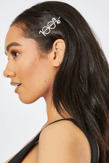 100% DIAMANTE HAIR SLIDE