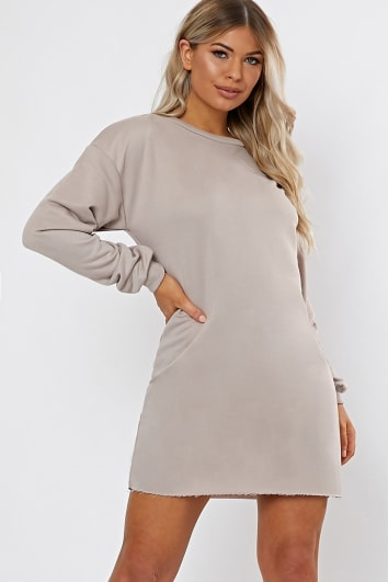 6185228e4eb LOUNA STONE OVERSIZED SWEATER DRESS