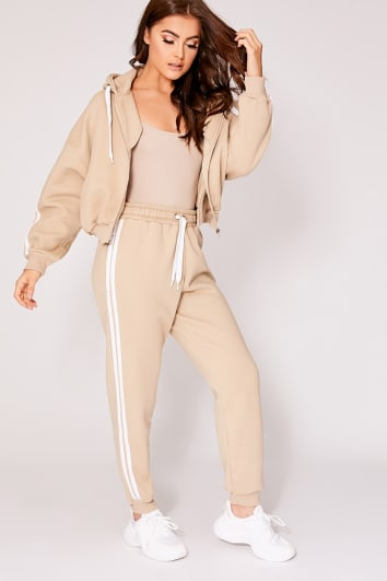 SARAH ASHCROFT STONE OVERSIZED CONTRAST STRIPE JOGGERS