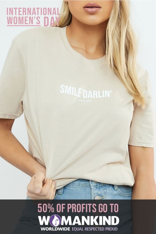 STONE SMILE DARLIN OVERSIZED T-SHIRT