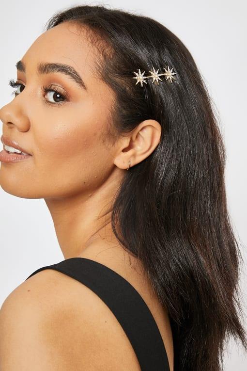 GOLD STAR HAIR SLIDE
