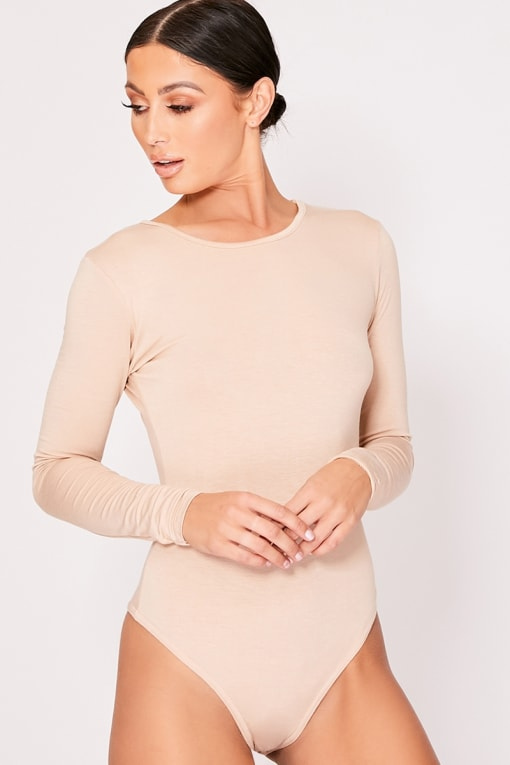 BASIC NUDE LONG SLEEVE BODYSUIT