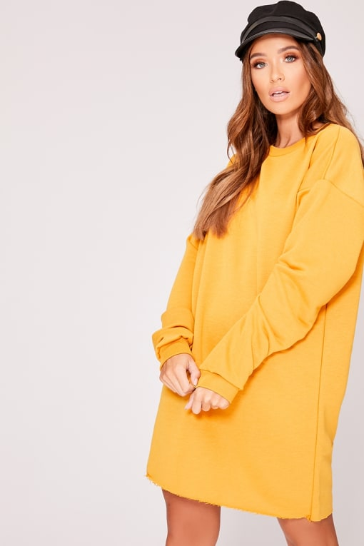 LOUNA MUSTARD OVERSIZED SWEATER DRESS