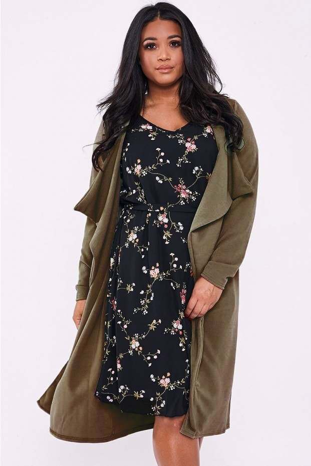 CURVE MADICYN KHAKI WATERFALL JACKET