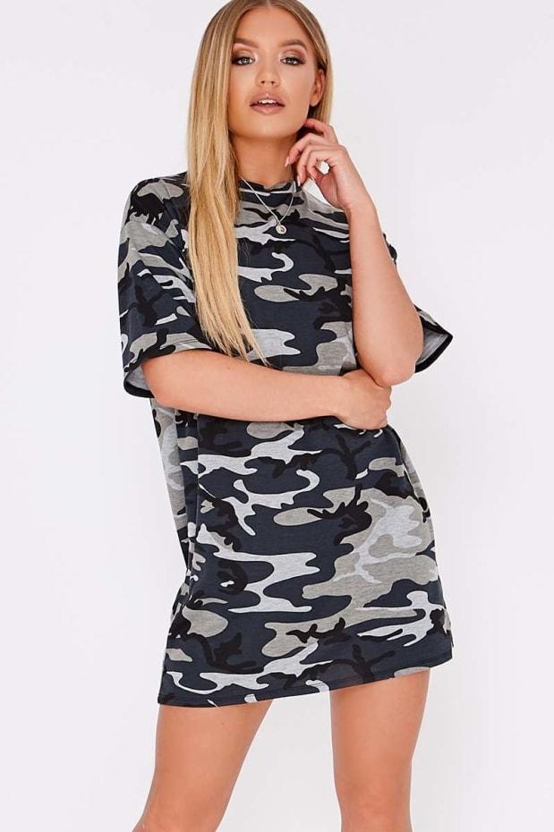 CAMO OVERSIZED T-SHIRT DRESS