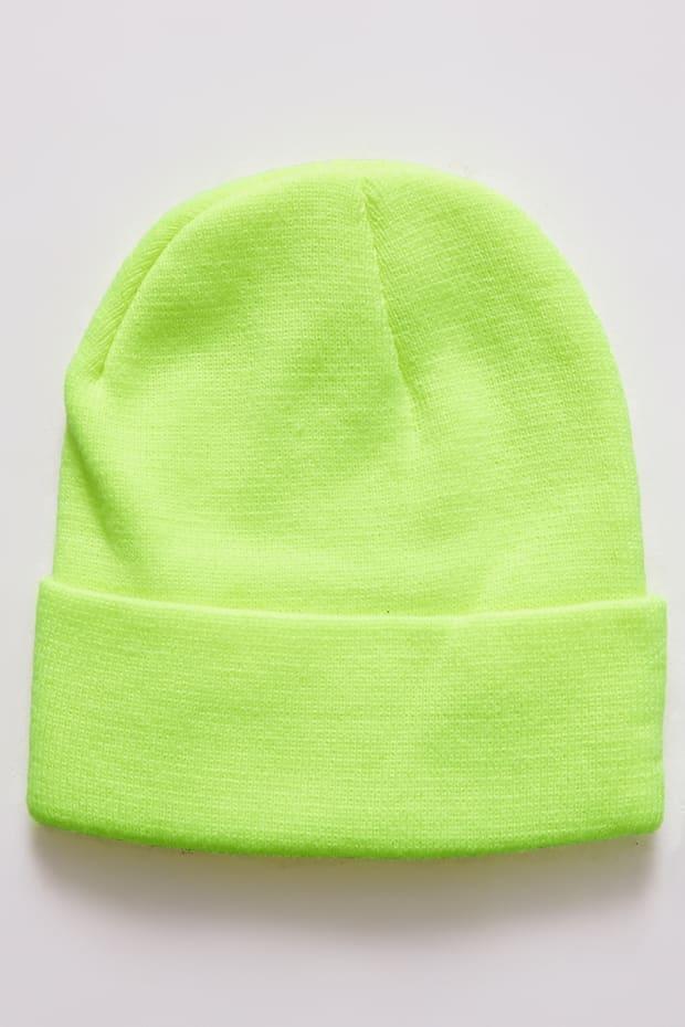 efad342ccfece Neon Lime Beanie Hat