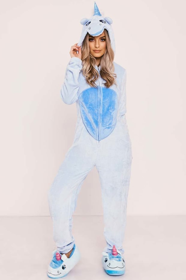 BLUE UNICORN 3D ONESIE