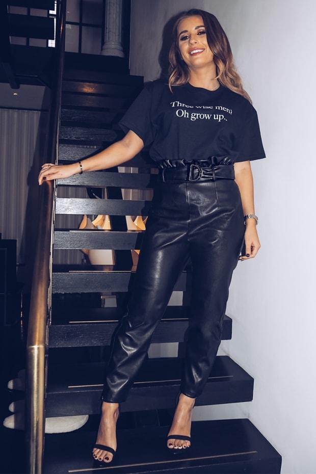 175cd313d Dani Dyer Black Pu Paperbag Trousers
