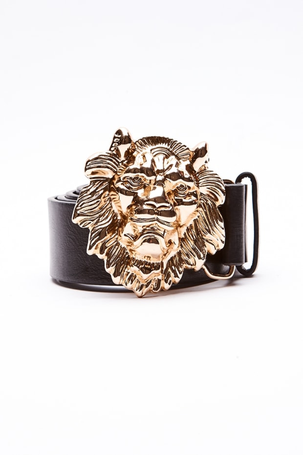 GOLD LION HEAD BUCKLE BELT
