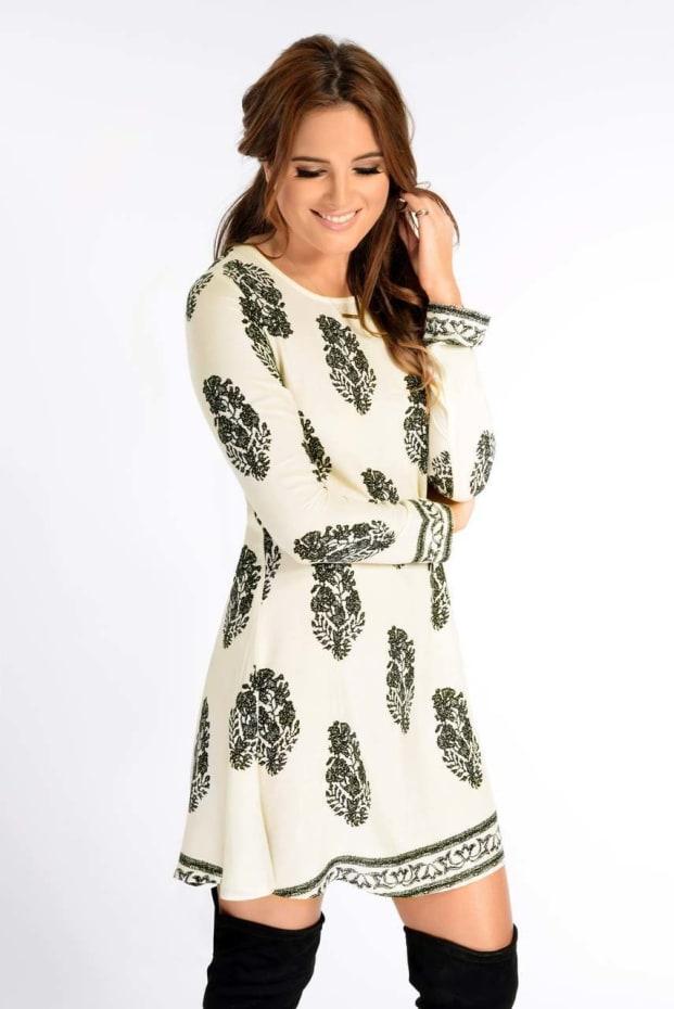Binky Border Print Dress