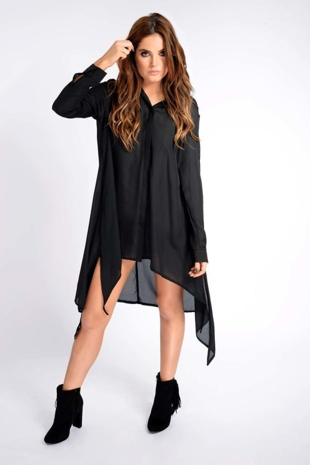 Binky Black Dip Side Shirt